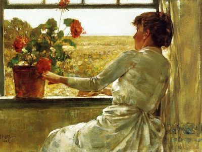 Summer Evening by Childe Hassam